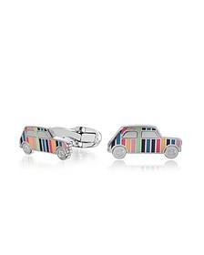 Striped Mini Car Men's Cufflinks - Paul Smith
