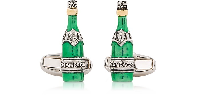 Champagne Metal Cufflinks - Paul Smith