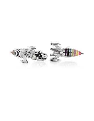 465a6b608ea8 Artist Stripe Rocket Men s Cufflinks - Paul Smith