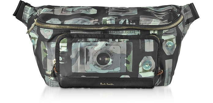 Paul's Camera Printed Canvas  Men's Belt Bag - Paul Smith