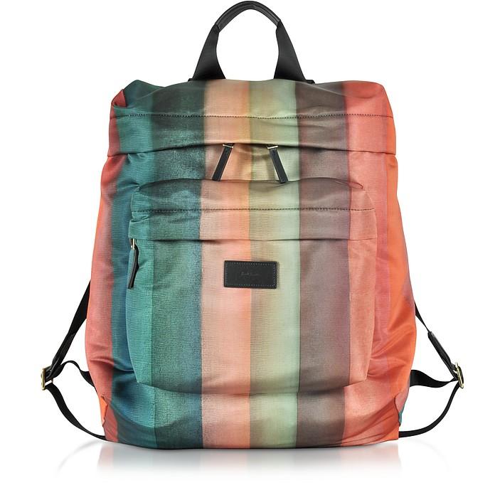 Men's Painted Rainbow Stripe Print Backpack - Paul Smith