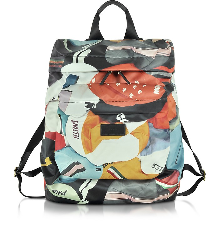 Men's Cycling Caps Print Backpack  - Paul Smith