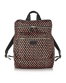 Men's Strawberry Skull Print Nylon Rucksack - Paul Smith