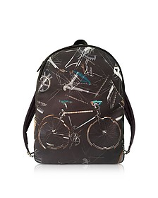 Black Canvas Bike Print Backpack - Paul Smith / ポール スミス