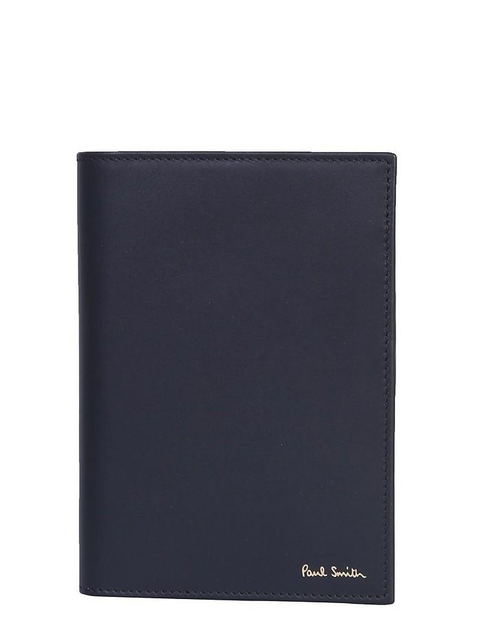 LEATHER PASSPORT HOLDER - Paul Smith