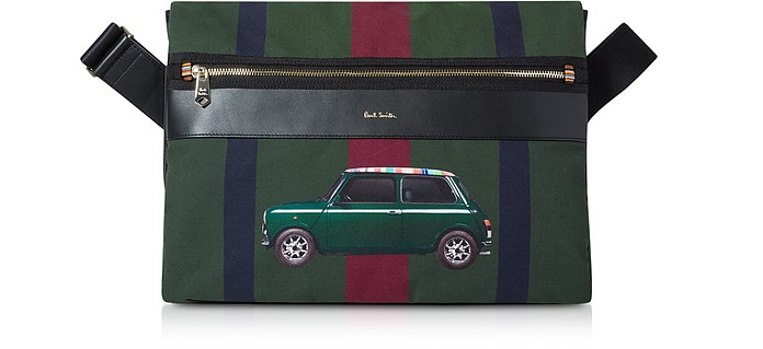 Green Mini Print Men's Crossbody Bag - Paul Smith