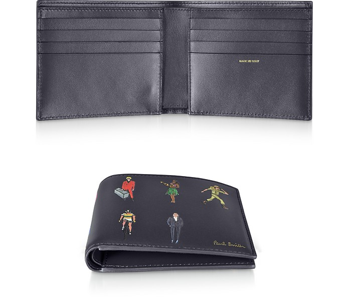 Men's People Motif Billfold Leather Wallet - Paul Smith
