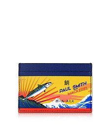 Mackerel Print Leather Credit Card Holder - Paul Smith