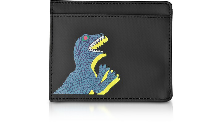 Black Nylon and Leather Dino Card Holder - Paul Smith