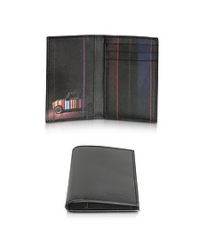 Black Mini Print Leather CC Men's Wallet - Paul Smith