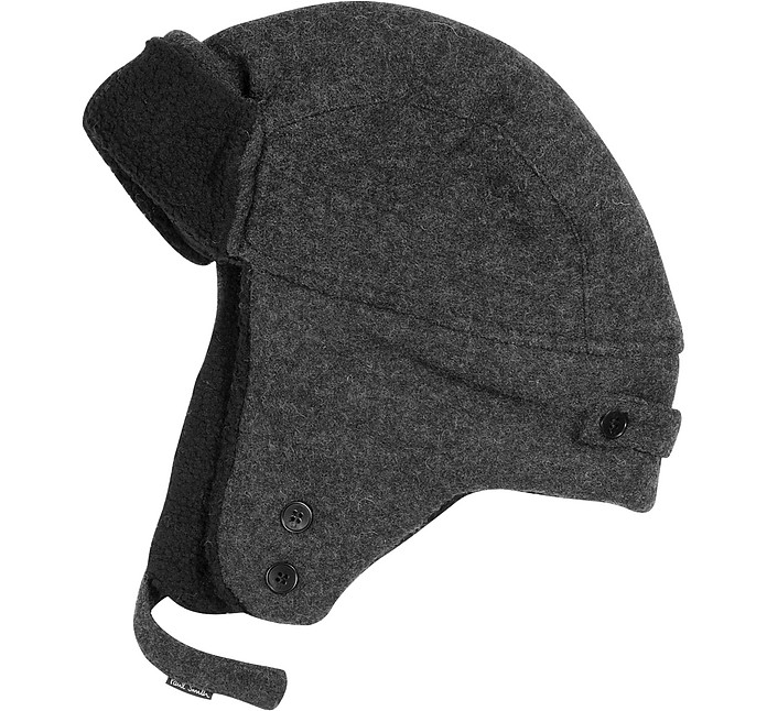 4fd3bcb396af18 Paul Smith Black Wool Trapper Hat L | cm 59 | in 23.2 at FORZIERI