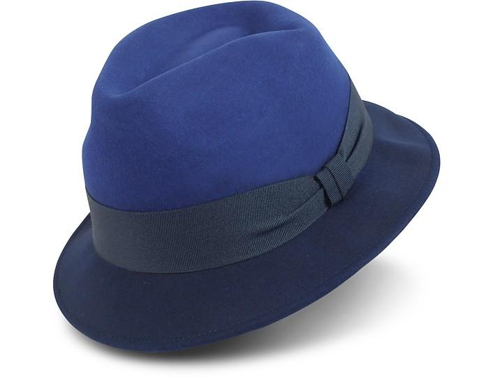 8a4c8eba8f4b5 Paul Smith Men s Blue Dip-Dyed Trilby Hat L