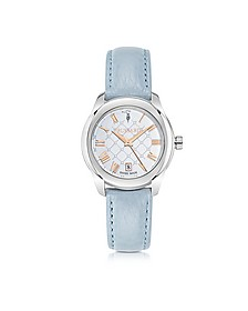 T01 Lady Stainless Steel and Blue Leather Women's Watch - Trussardi