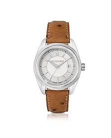 Lady Stainlees Steel w/Ostrich Leather Strap Women's Watch - Trussardi