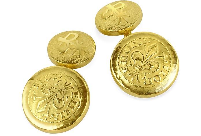 Fiorino Gemelli in Oro Nativo Realizzati a Mano - Torrini