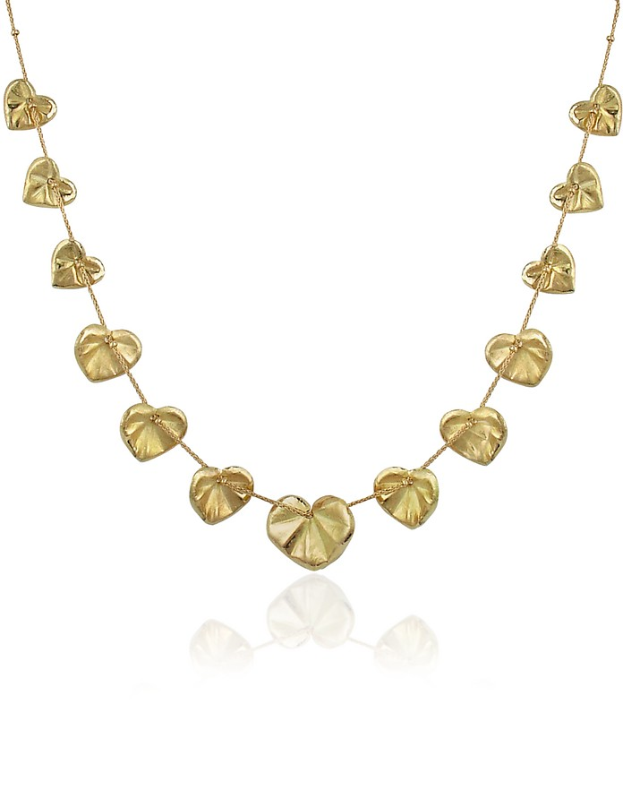 Leaf - 18K Yellow Gold Necklace - Torrini