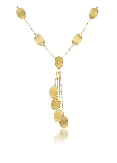 Lenticchie Moving - 18K Yellow Gold Drop Necklace - Torrini