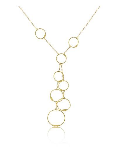 Milly - 18K Yellow Gold Circles Drop Necklace - Torrini