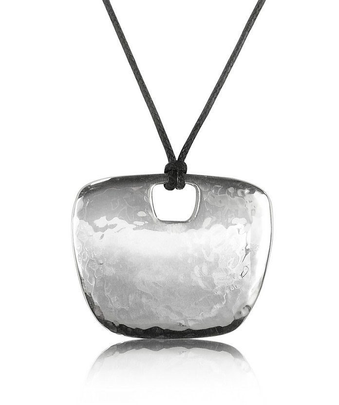 Sterling Silver Pendant w/Lace - Torrini