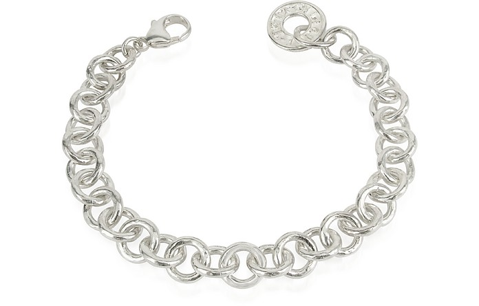 Coin 1369 - Sterling Silver Rolo Chain Charm Bracelet - Torrini