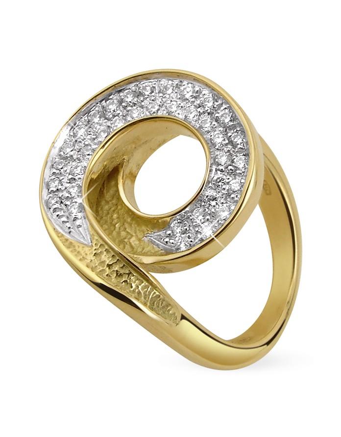 Infinity 18K Yellow Gold Diamond Ring - Torrini