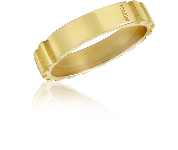 Stripes - 18k Yellow Gold Band Ring - Torrini