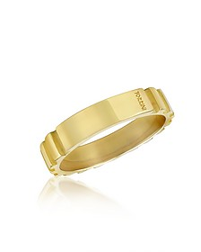 Stripes - 18k Yellow Gold Band Ring - Torrini