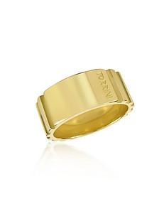 Stripes - 18k Yellow Gold Tall Band Ring - Torrini