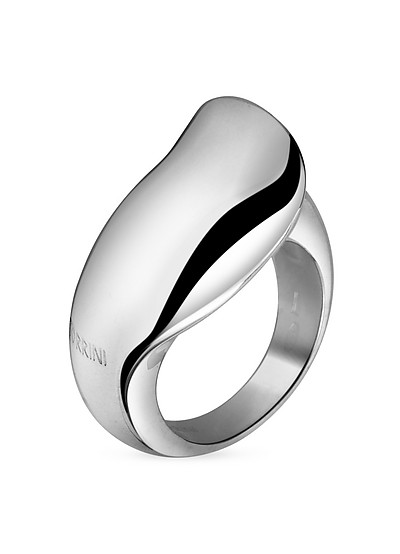 Curved Sterling Silver Ring  - Torrini