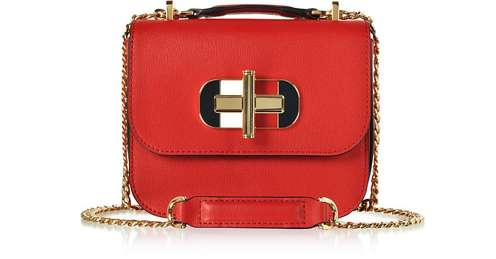 Small Cross-Grain Leather Shoulder Bag - Tommy Hilfiger