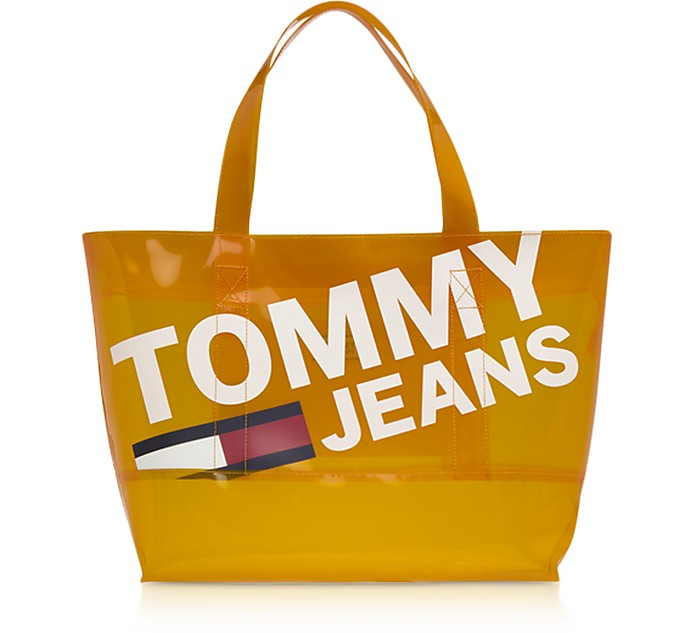 Tommy Shopper in Eco Pelle e PVC - Tommy Hilfiger