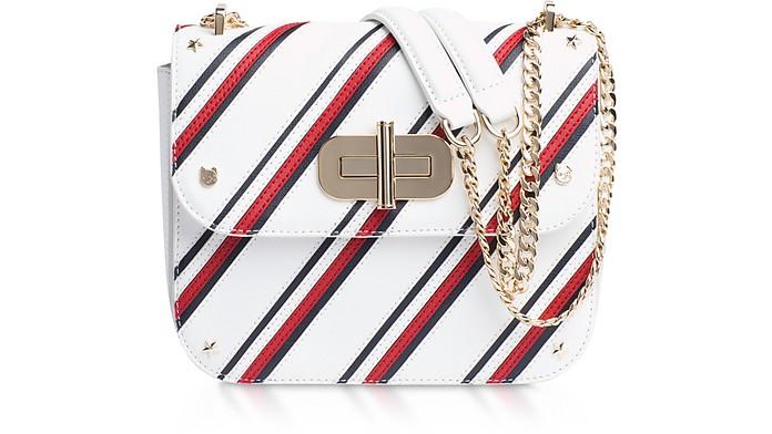 Turn Lock Diagonal Stripe Crossover Bag - Tommy Hilfiger