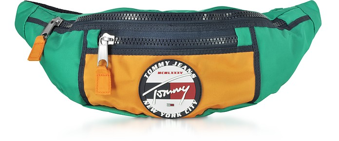 The Heritage Aqua Fabric Belt Bag - Tommy Hilfiger