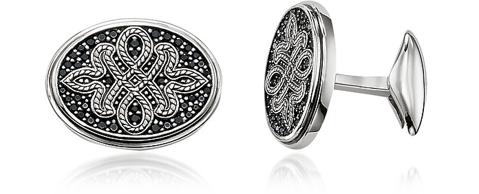 Blackened Sterling silver Love Knot Cufflinks - Thomas Sabo