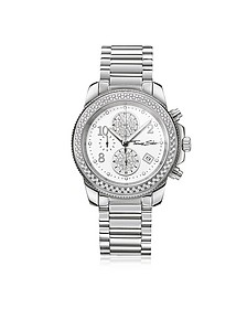 Glam Chrono Silver Stainless Steel Women's Watch w/Crystals - Thomas Sabo