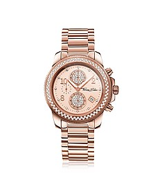 Glam Chrono Rose Gold Stainless Steel Women's Watch w/Crystals - Thomas Sabo