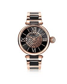 Karma Rose Gold and Black Stainless Steel Women's Watch - Thomas Sabo