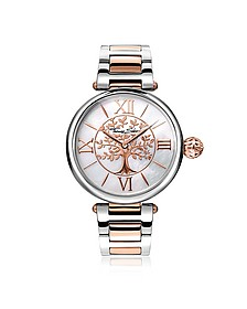 Karma Silver and Rose Gold Stainless Steel Women's Watch - Thomas Sabo