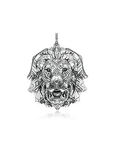 925 Sterling Silver Lion Pendant w/Black Zirconia - Thomas Sabo