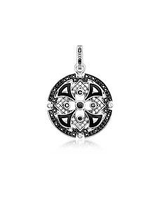 Blackened Sterling Silver w/Black & White Cubic Zirconia Pendant - Thomas Sabo