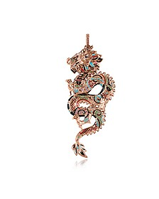 18k Rose Gold Plated Sterling Silver Dragon Pendant w/Glass-ceramic Stones - Thomas Sabo