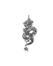 Blackened Sterling Silver Dragon Pendant w/Black Cubic Zirconia  - Thomas Sabo