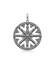 Blackened Sterling Silver Pendant w/ Signature Eyelet	 - Thomas Sabo