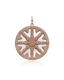 Rose Gold Plated Sterling Silver Round Pendant w/Mother of Pearl and White Cubic Zirconia - Thomas Sabo