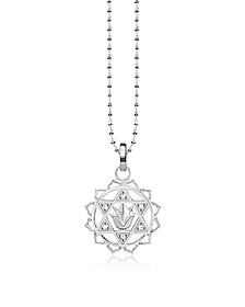 Heart Chackra Sterling Silver Necklace w/White Zirconia  - Thomas Sabo