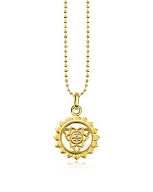 Throat Chackra Yellow Gold Plated  Sterling Silver Necklace w/White Zirconia  - Thomas Sabo