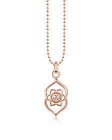 Third Eye Chackra Rose Gold Plated  Sterling Silver Necklace w/White Zirconia - Thomas Sabo