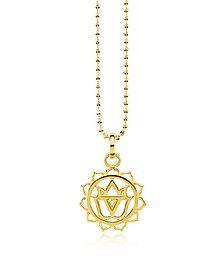 Solar Plexus Chackra Yellow Gold Plated  Sterling Silver Necklace w/White Zirconia - Thomas Sabo