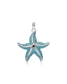 Blackened Sterling Silver Starfish Pendant w/Turquoise Stonesglass-ceramic Stones  - Thomas Sabo