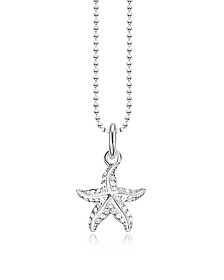 Sterling Silver Starfish Pendant Necklace w/White Zirconia - Thomas Sabo